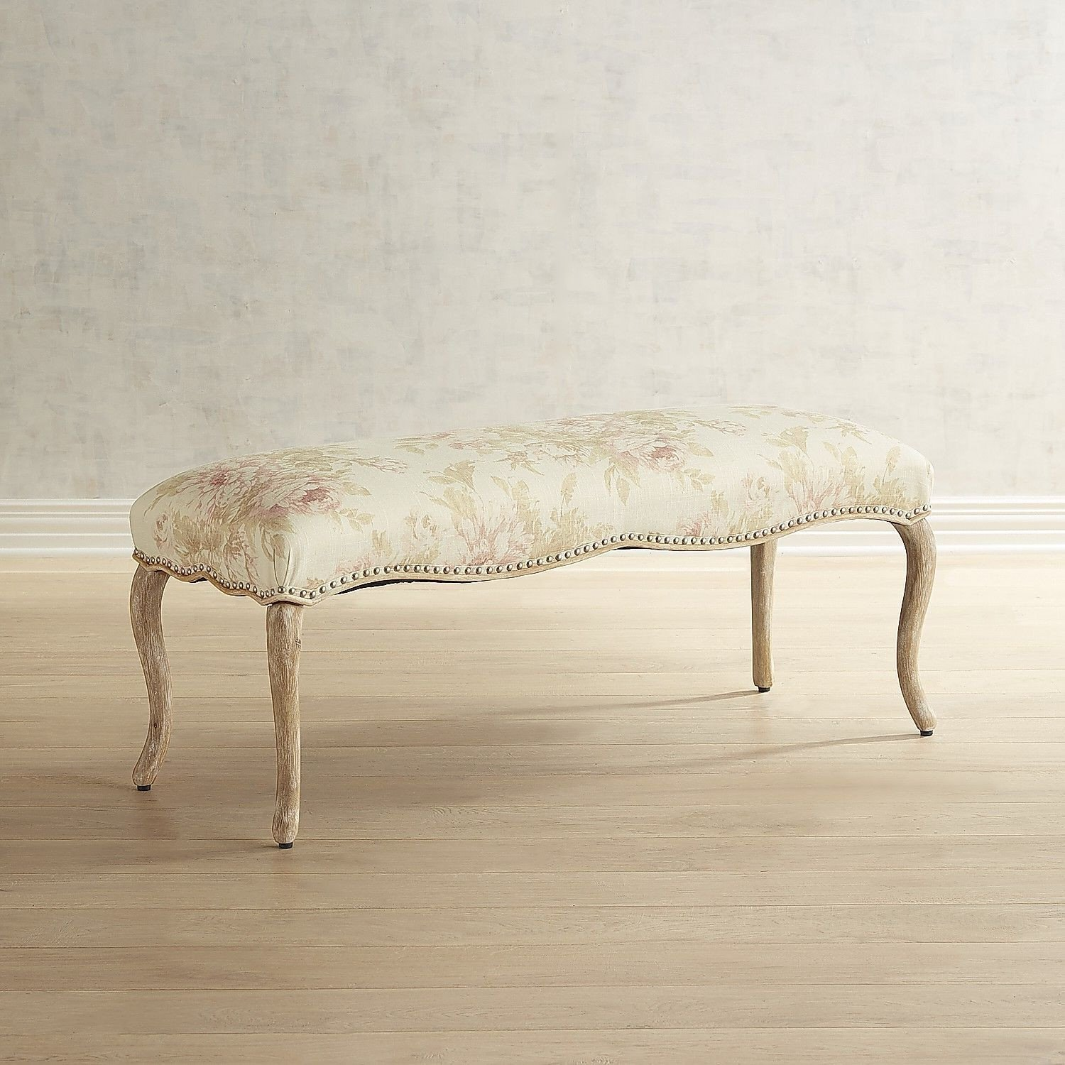 Fabric Bench for Bedroom Unique Claudine Jasmine Blush Bench
