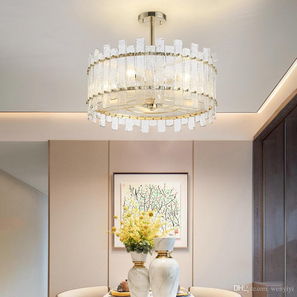 Fake Chandelier for Bedroom Beautiful Modern Chandeliers In the Living Room Bedroom Round Restaurant Lamp Luxury Frosted Glass Design Chandelier Lighting Drum Chandelier Bathroom