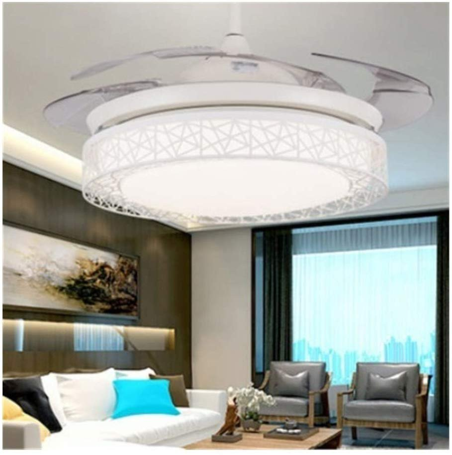 Fake Chandelier for Bedroom Fresh Hidden Ceiling Fan Light Fashion Simple Dining Room
