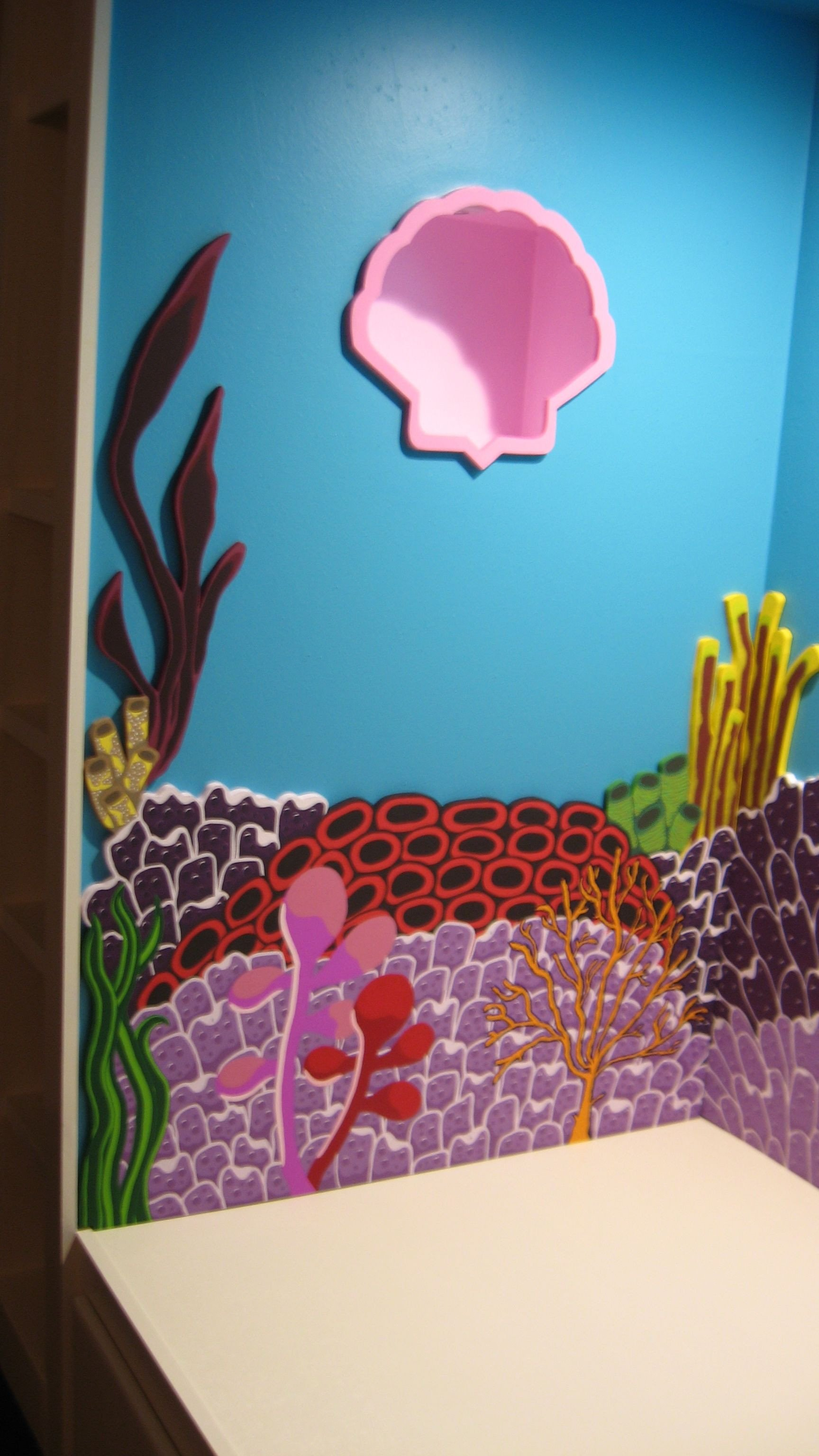 Finding Dory Bedroom Decor Awesome Left Wall Seascape Installed