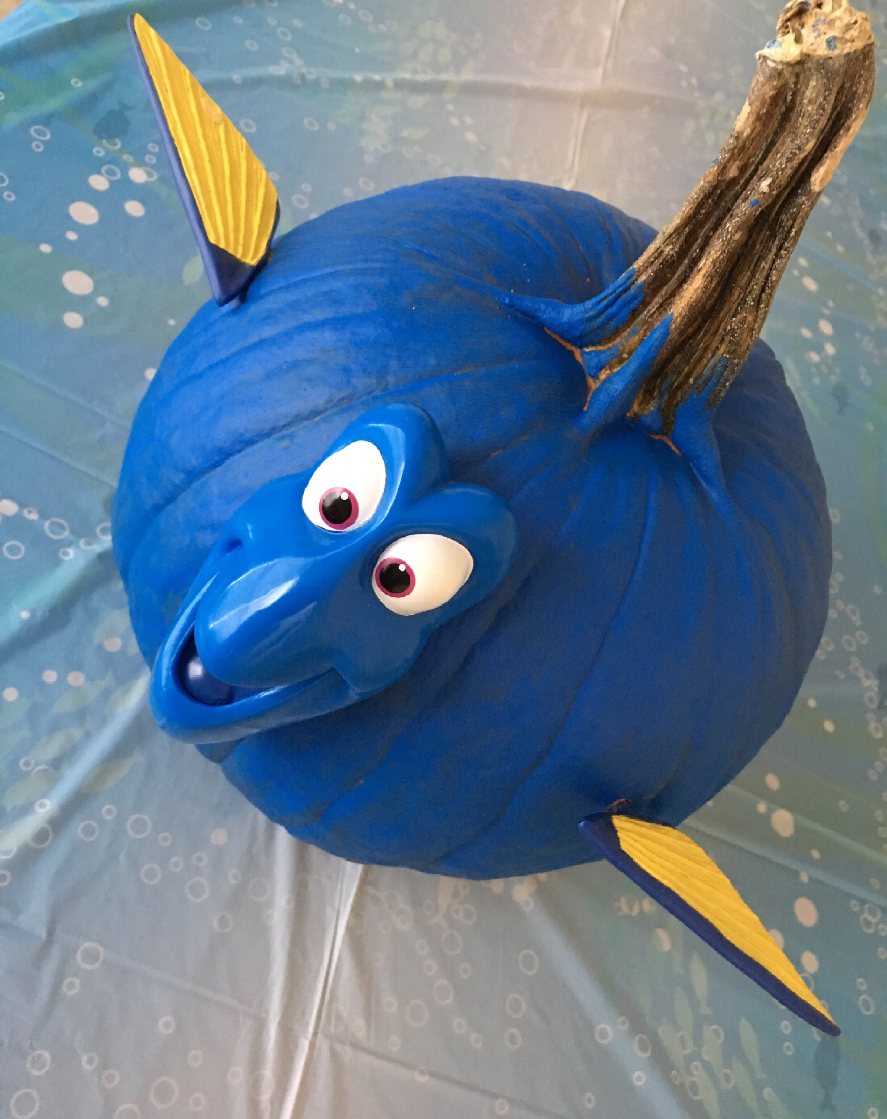 Finding Dory Bedroom Decor Lovely Easy Diy No Carve Finding Dory Pumpkin Carving Party