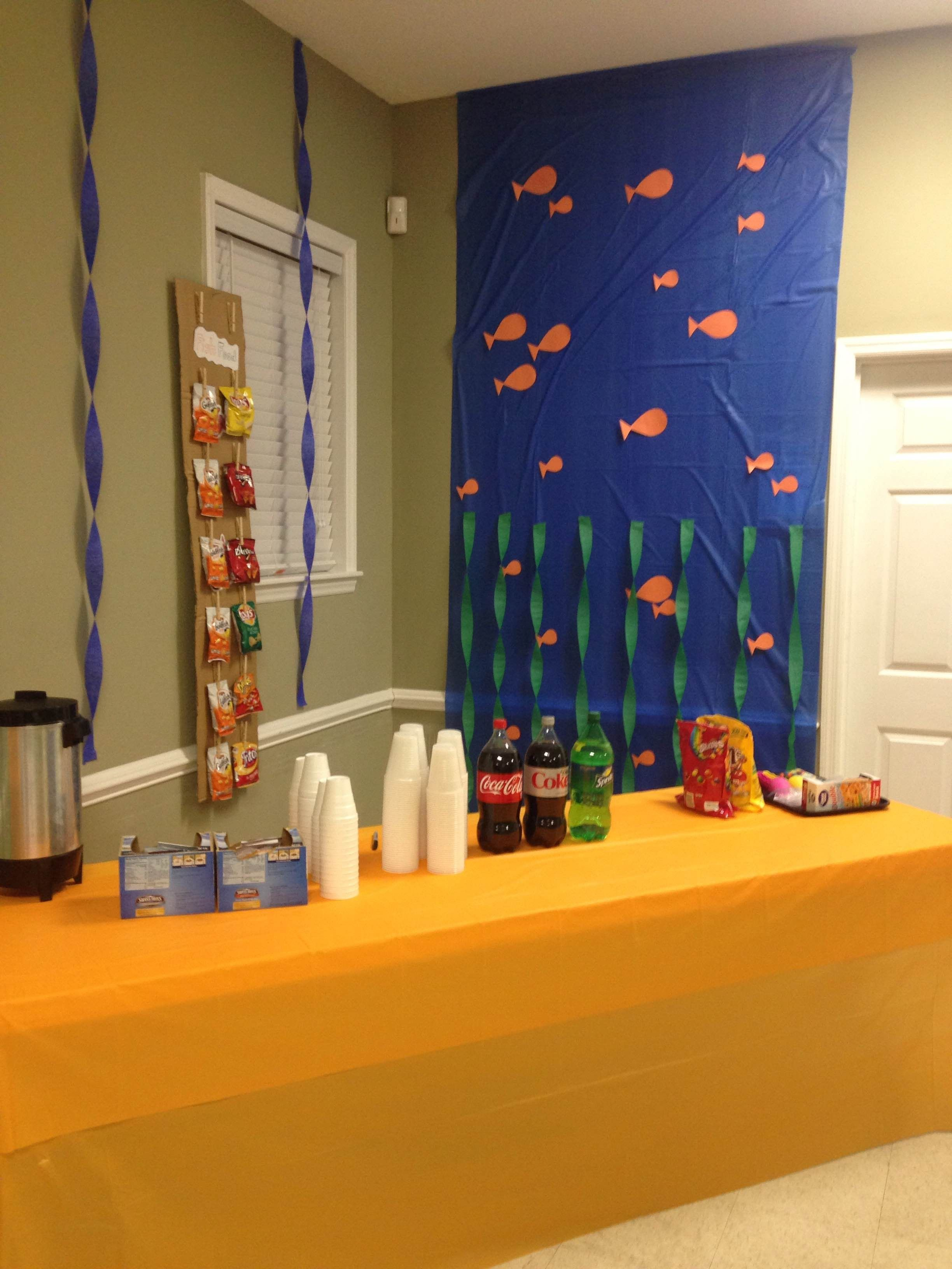 "Finding Dory Bedroom Decor Luxury Our Fellowship Hall is Decorated with A ""finding Nemo"" theme"