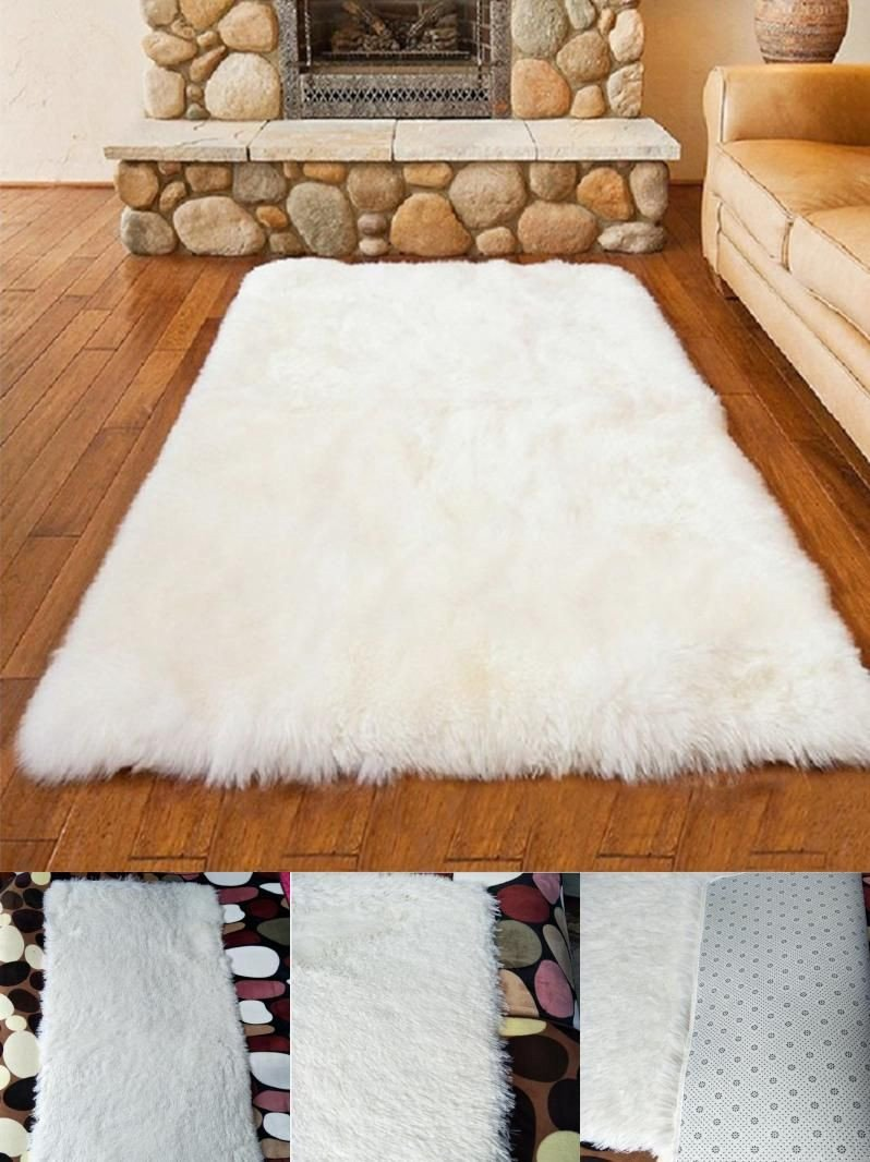 Fluffy Carpet for Bedroom Beautiful Visit to Buy] White Plush Carpet Bedroom Livingroom Carpet