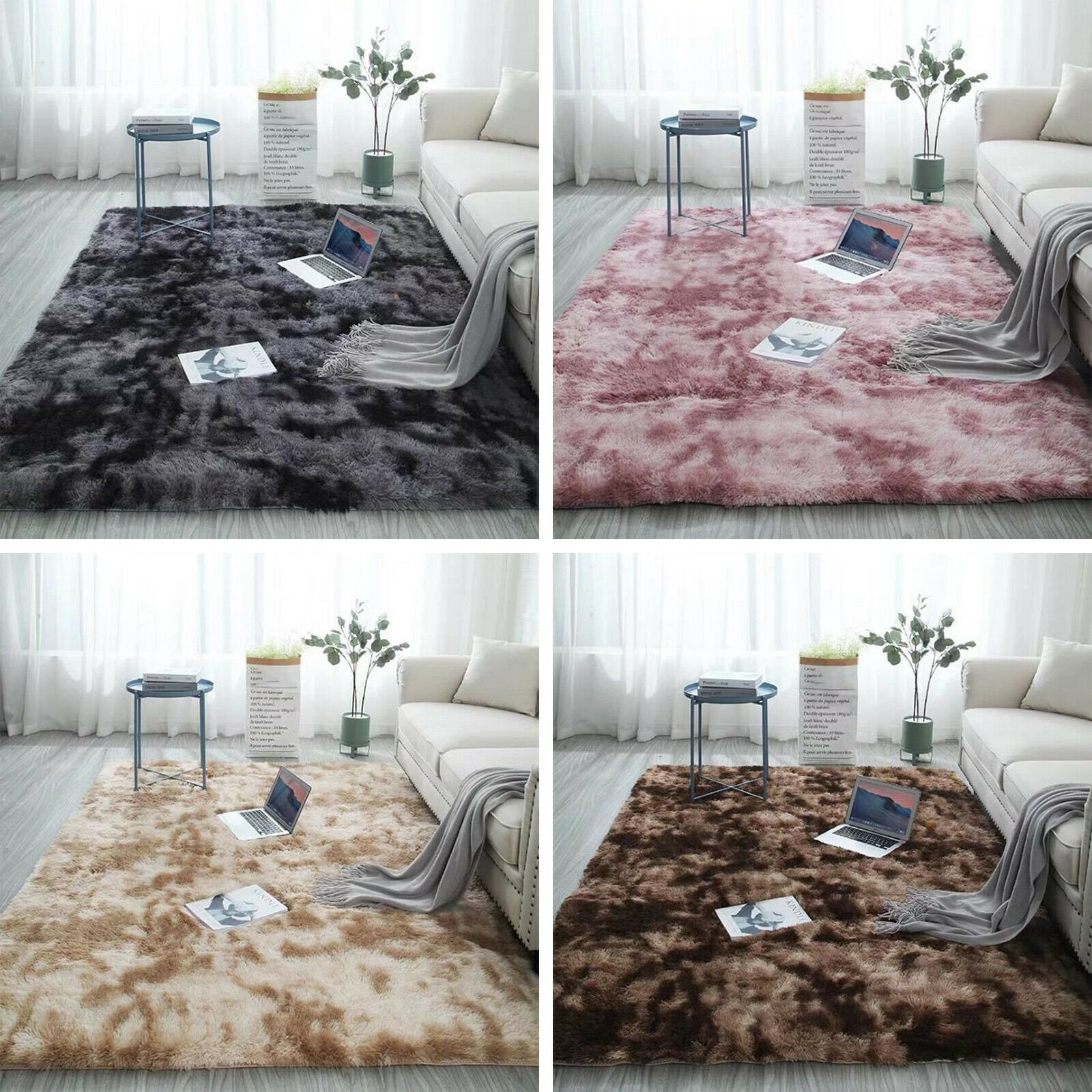 Fluffy Carpet for Bedroom Elegant Plush Floor Carpets soft Fluffy area Rug Mat Shaggy