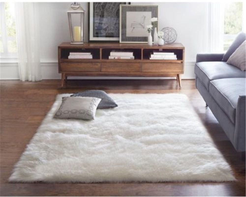 Fluffy Carpet for Bedroom Lovely Leather Fur & Sheepskin Rugs Shaggy Hairy area Rugs Faux