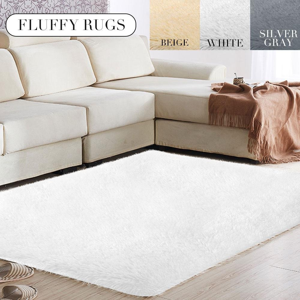 Fluffy Carpet for Bedroom Luxury 160x120cm Fluffy Rugs Warm sofa Home Mat Decoration Carpet Floor for Living Room Bedroom for area Rug Carpet Tiles for Kitchen Industrial Style Rugs