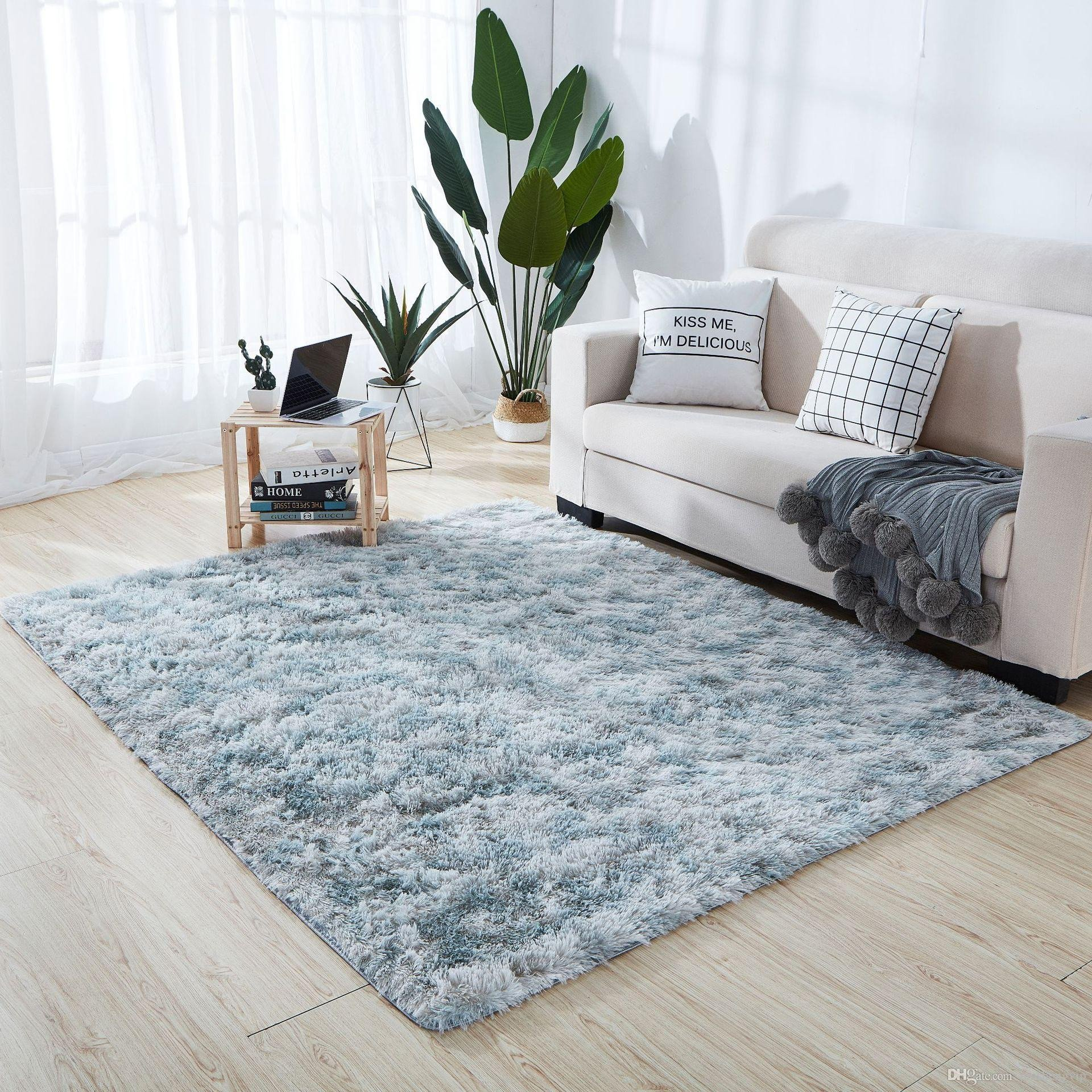 Fluffy Carpet for Bedroom Luxury Fashion Extra soft Carpet Anti Skid Shaggy Warm area Rug for Indoor Living Room Bedroom Carpet Binding Beaulieu Carpet From Junshengvip $10 06