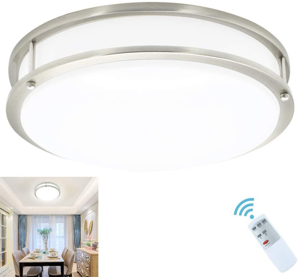 Flush Mount Bedroom Ceiling Light Awesome Dllt 30w Modern Led Dimmable Flush Mount Ceiling Light Fixture with Remote 14 Inch Round Close to Ceiling Lights for Living Roombedroomdining