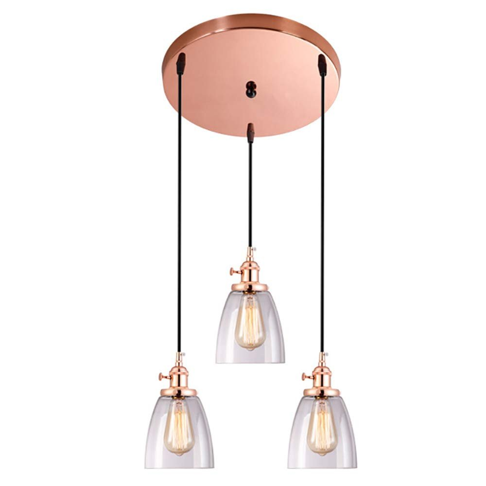 Flush Mount Bedroom Ceiling Light Beautiful 3 Lights Pendant Light Glass Lampshade Chandelier Ceiling