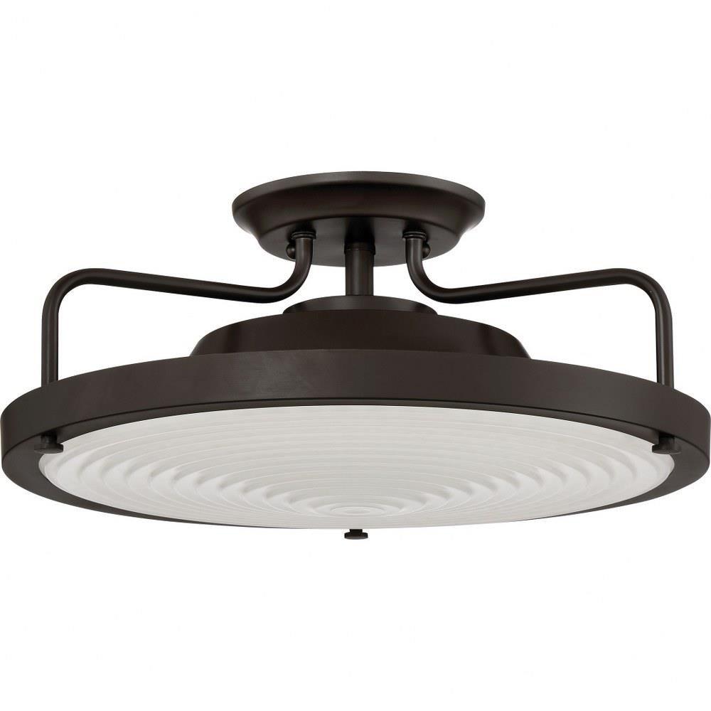 """Flush Mount Bedroom Ceiling Light Elegant 15"""" 20w 1 Led Semi Flush Mount"""