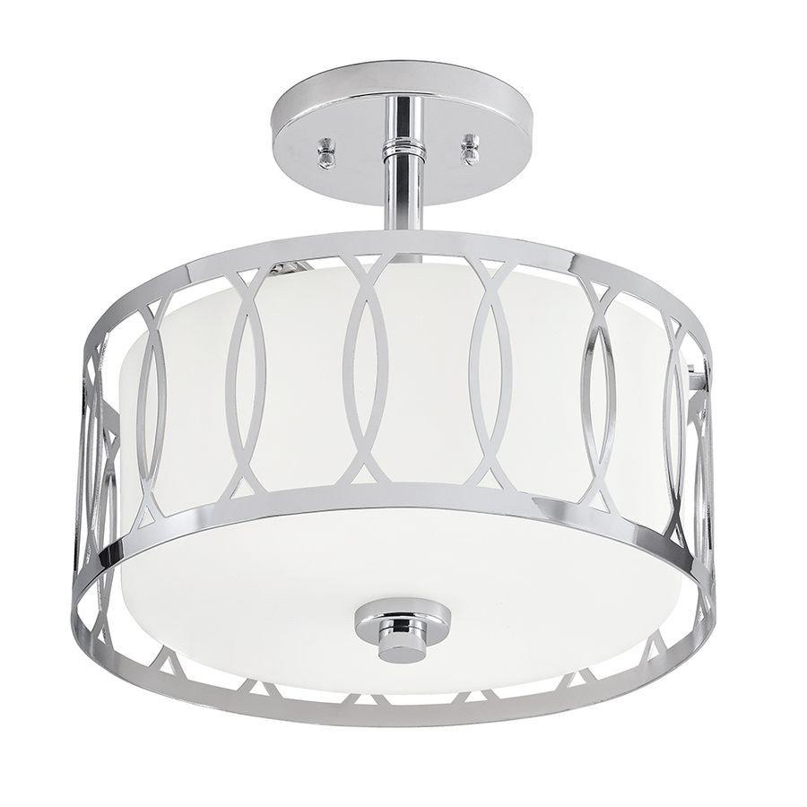 Flush Mount Bedroom Ceiling Light Fresh Kichler Lighting 12 24 In W Chrome Frosted Glass Semi Flush
