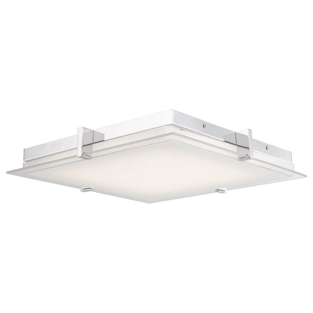 """Flush Mount Bedroom Ceiling Light Fresh Matrix 15 35"""" 30w 1 Led Flat Square Low Profile Flush Mount"""
