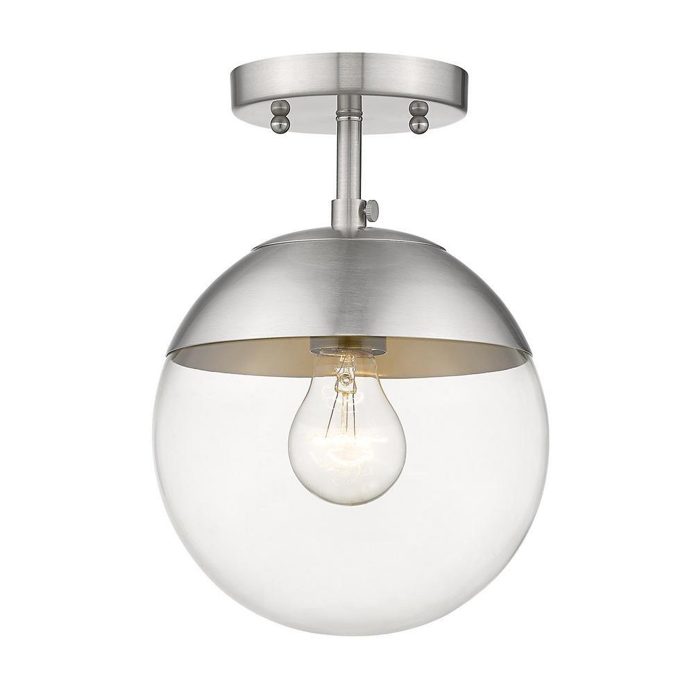 Flush Mount Bedroom Ceiling Light Inspirational Golden Lighting Dixon 10 5 In 1 Light Pewter Semi Flush Mount