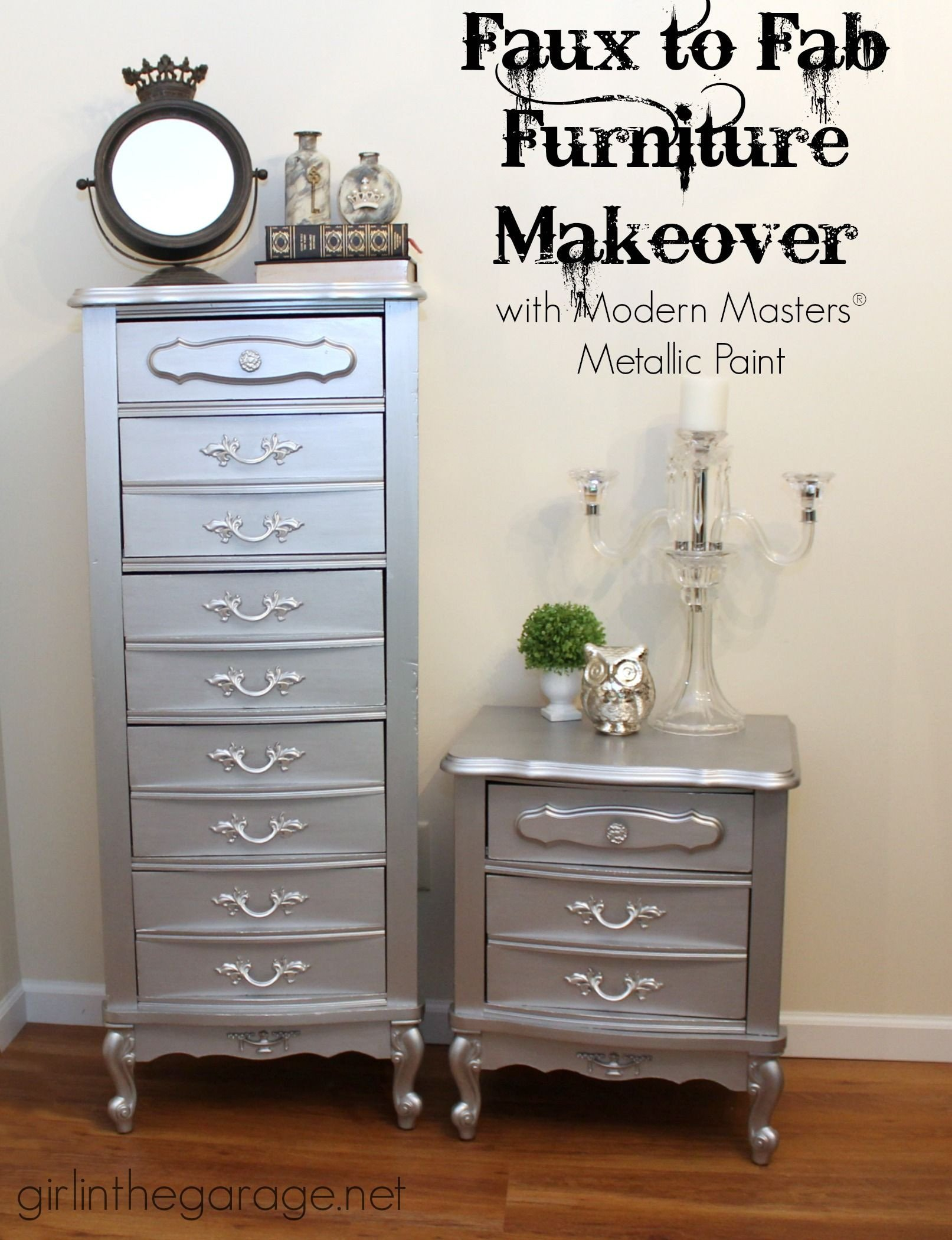 French Provincial Bedroom Furniture Beautiful Faux to Fab Metallic Furniture Makeover with Modern Masters