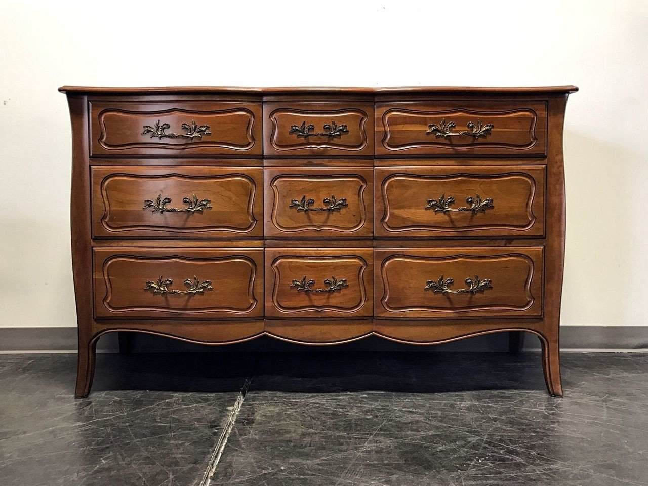 French Provincial Bedroom Furniture Lovely sold Out Davis Cabinet Co French Provincial solid Cherry 9 Drawer Triple Dresser
