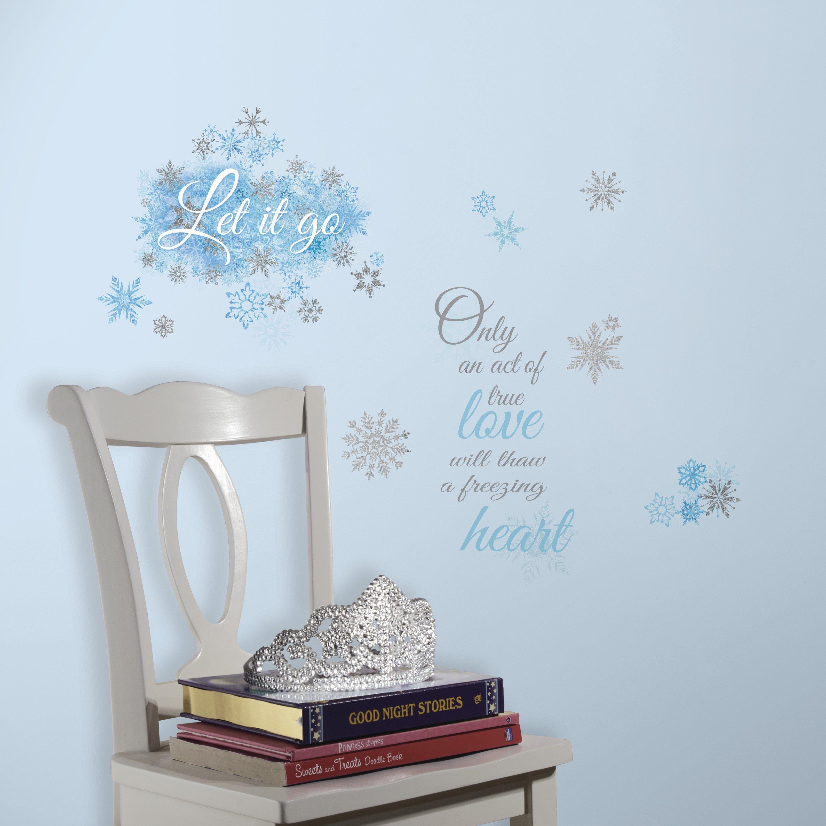 Frozen themed Bedroom Ideas Beautiful Disney Frozen Let It Go Peel and Stick Wall Decals