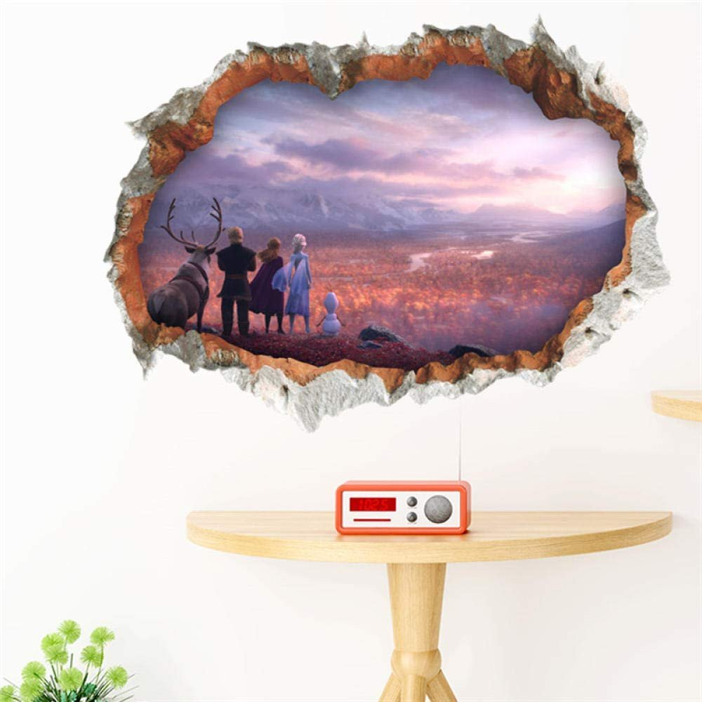 Frozen themed Bedroom Ideas Inspirational Amazon Ytytoo 3d Broken Hole Wall Sticker for Home