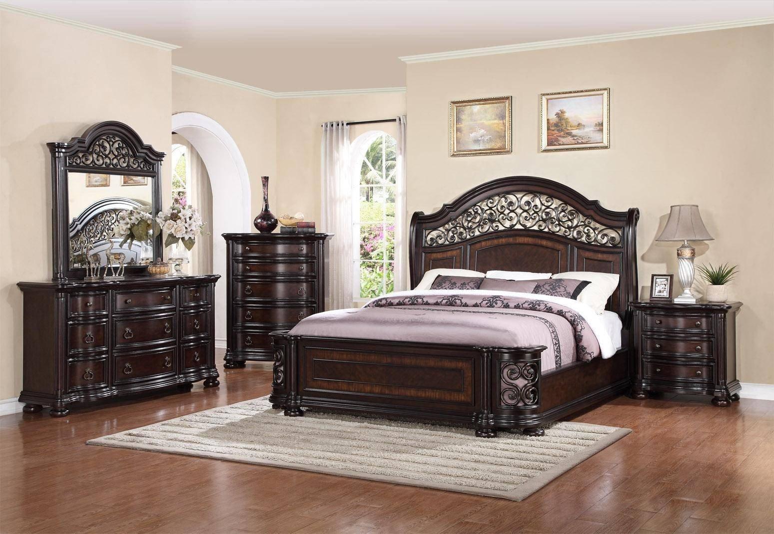 Full Bedroom Furniture Set Fresh Mcferran B366 Allison Espresso Finish solid Hardwood