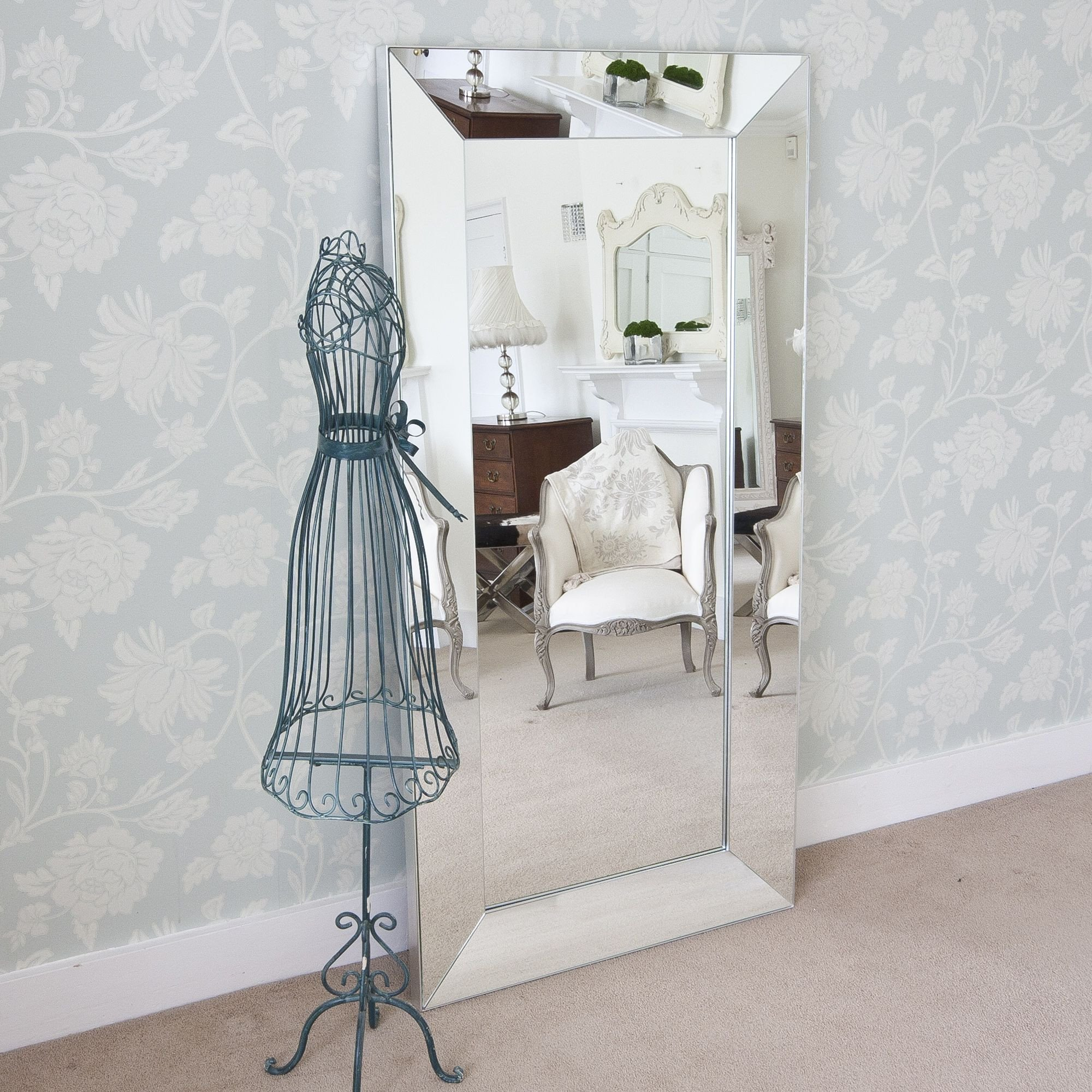 Full Length Bedroom Mirror Best Of Tuscany All Glass Full Length Mirror