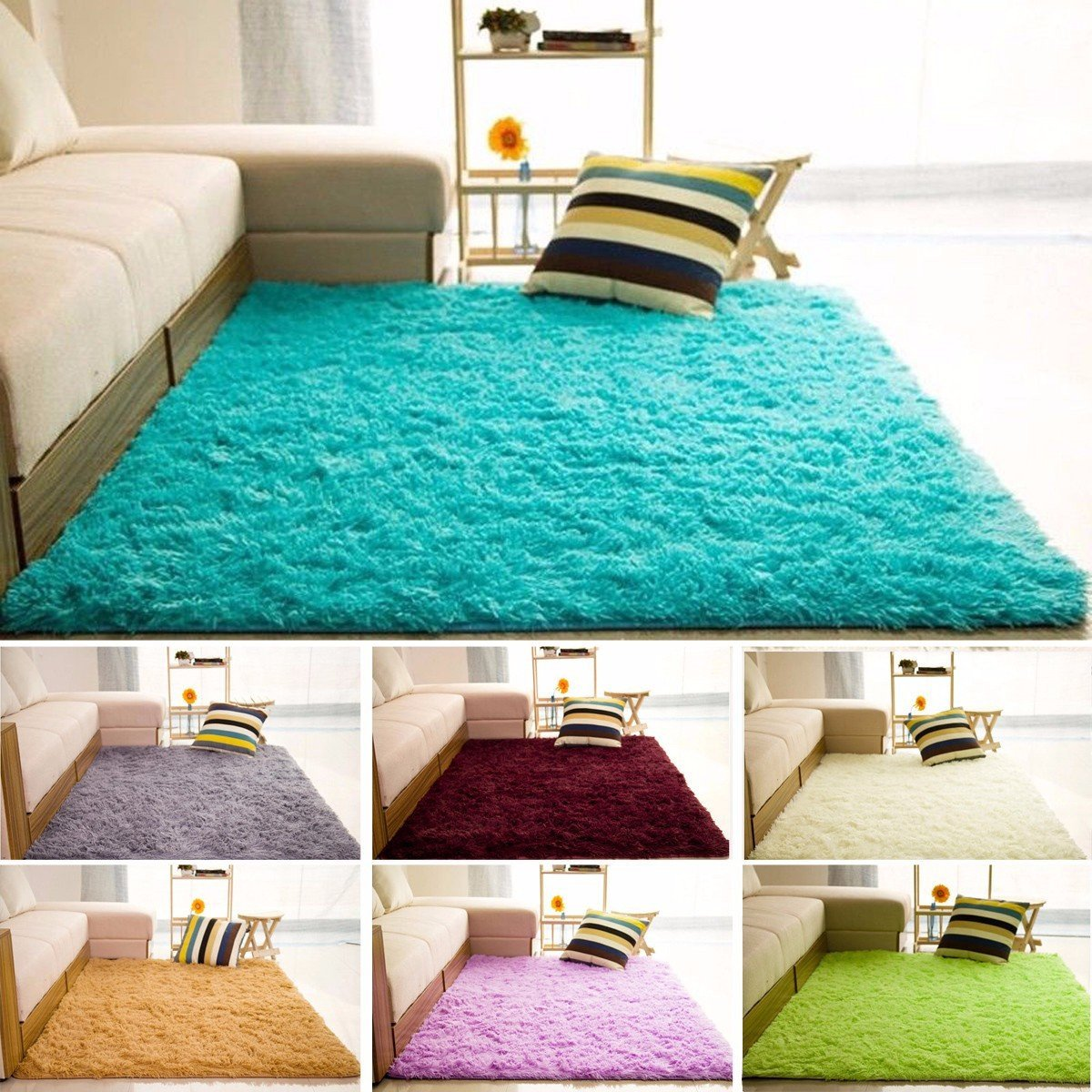 Furry Rugs for Bedroom Inspirational 80x200cm Fluffy Living Room Anti Slip Carpet Floor Mats Yoga Bedroom Rag Rugs Shag Rugs