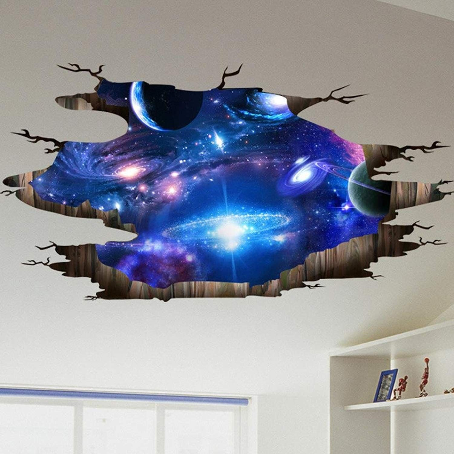 Galaxy Wallpaper for Bedroom Beautiful Amazonsmile Lowprofile 3d Bridge Floor Wall Sticker