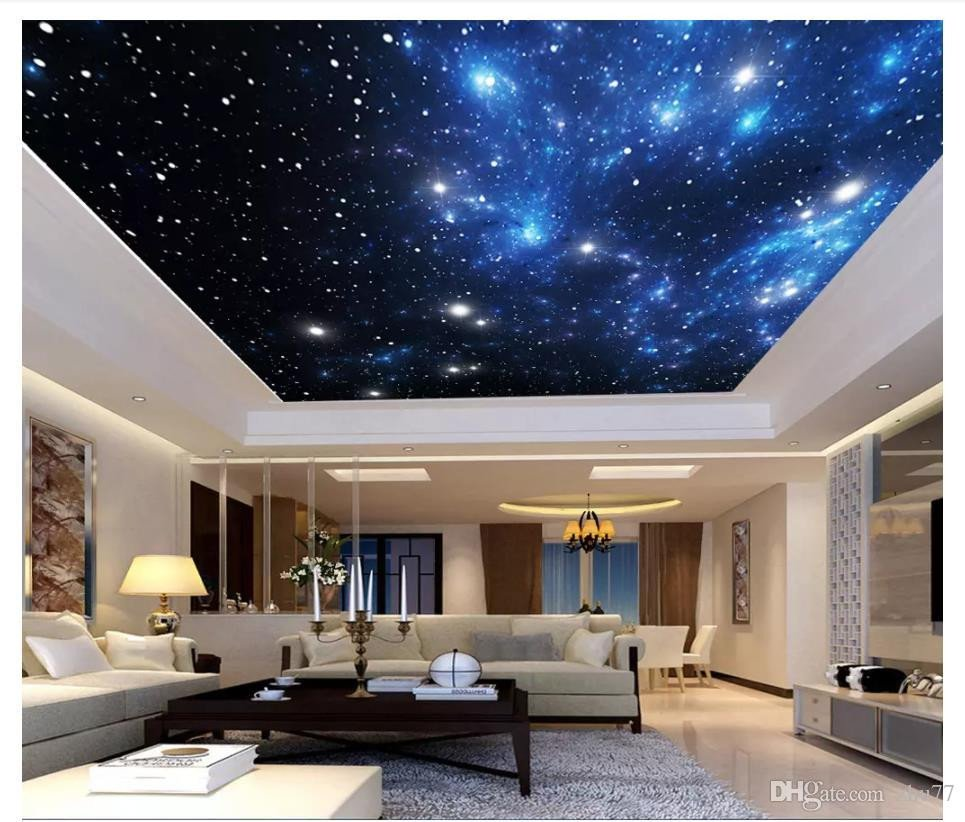 Galaxy Wallpaper for Bedroom Lovely Custom 3d Ceiling Photo Wall Paper Fantasy Universe Starry Sky Hotel Lobby Zenith Ceiling Mural Decorative Painting