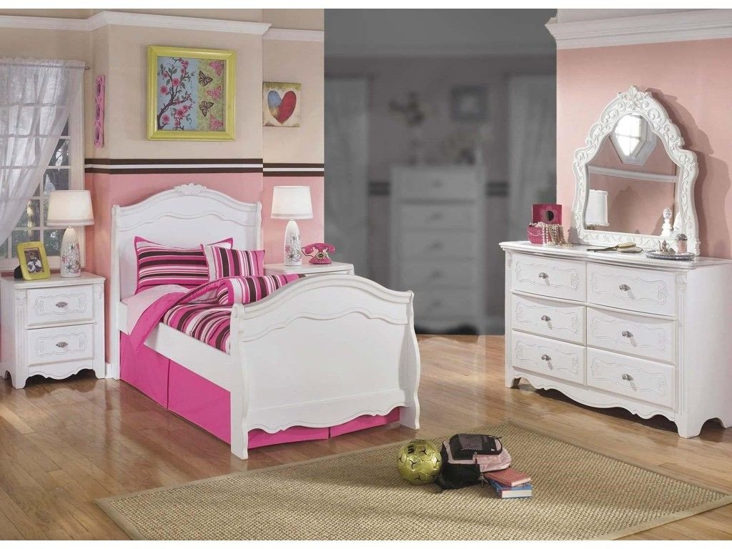 Girl Bedroom Set Full Elegant Lil Darling 4pc Twin Sleigh Bed Bedroom Set by Signature