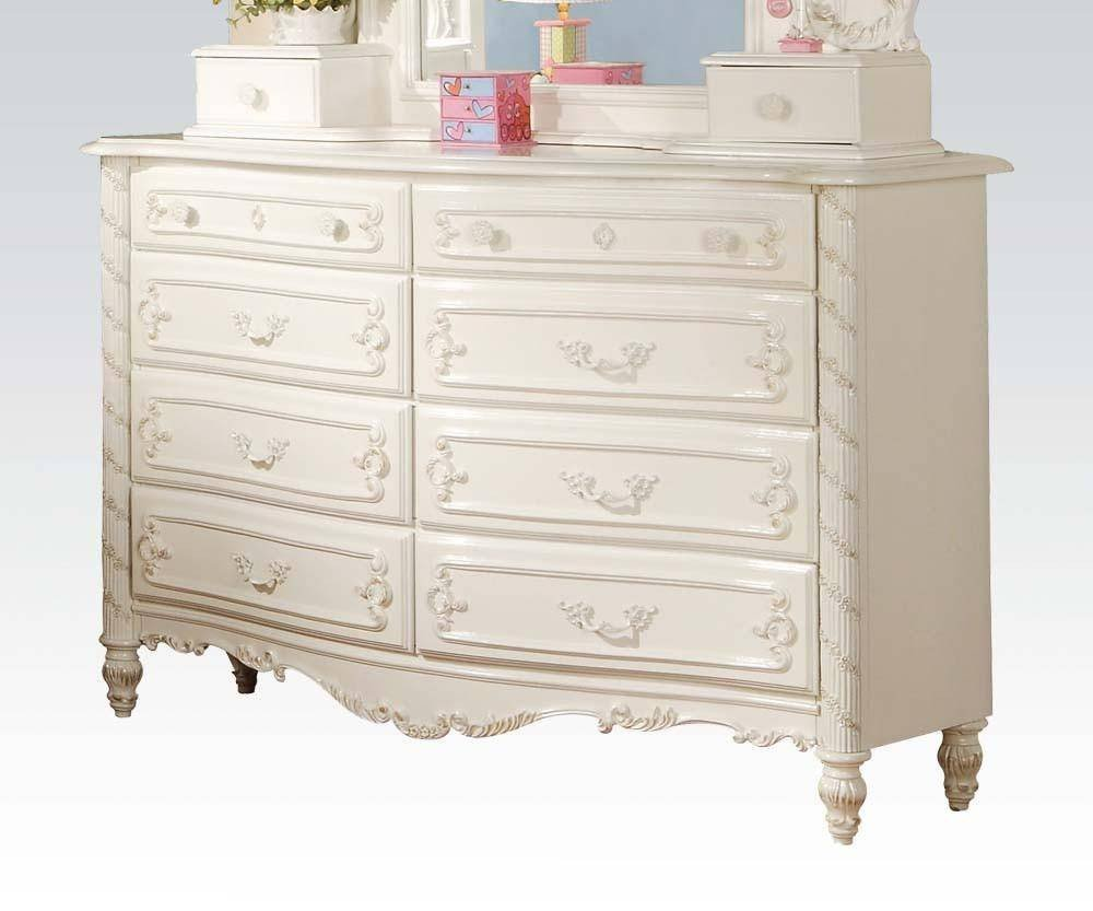 Girl Bedroom Set Full Unique Acme Furniture T Pearl White Youth Upholstered Poster