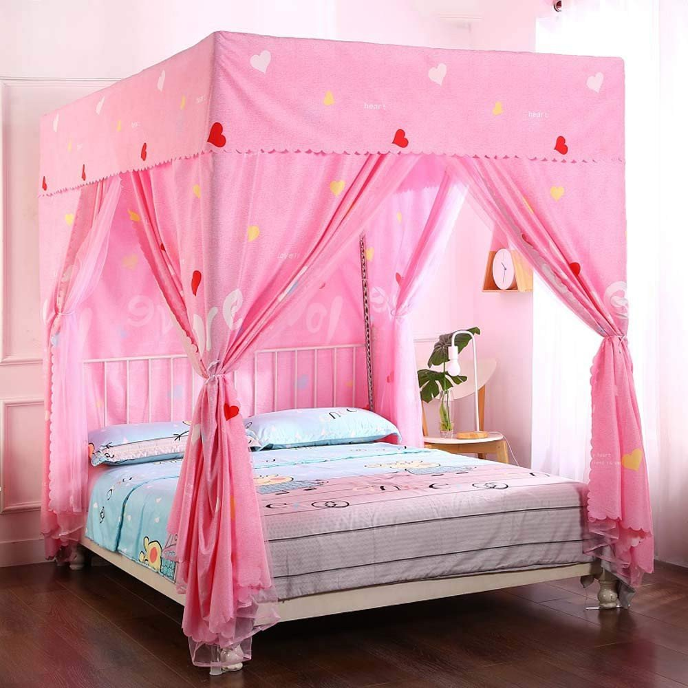 Girl Canopy Bedroom Set Best Of Amazon Mengersi Heart Four Corner Post Bed Curtain
