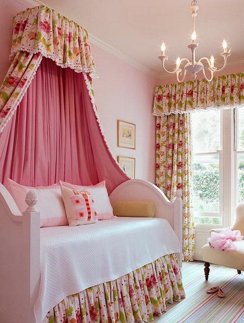 Girl Canopy Bedroom Set Elegant Kids Furniture Delicate Pink Girl Bedroom with Daybed Plus