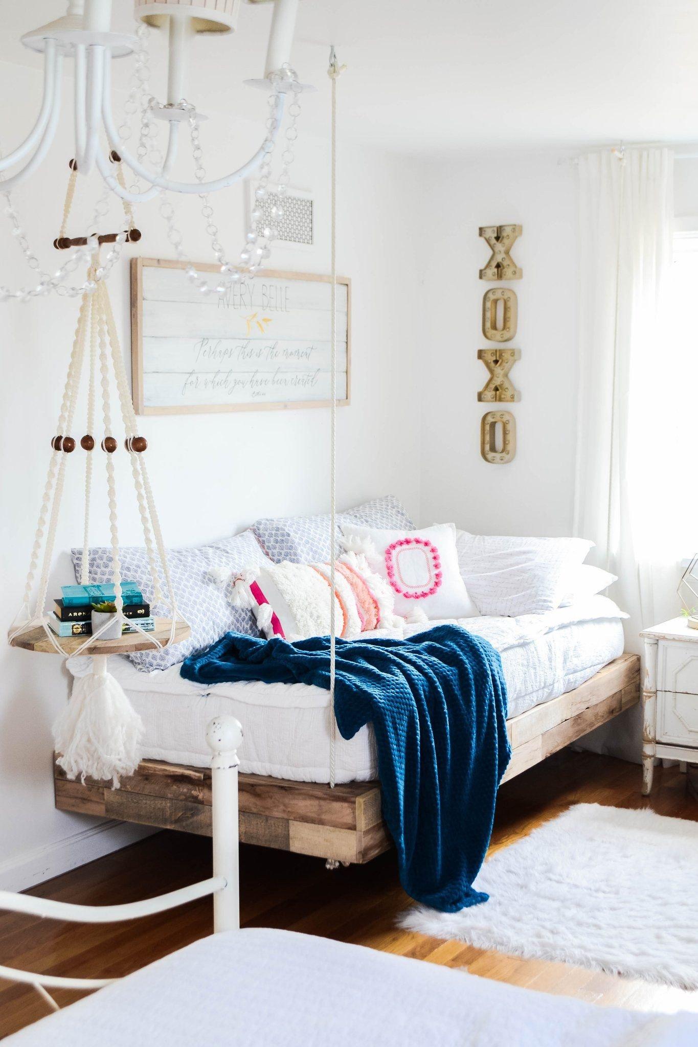 Girl toddler Bedroom Set Best Of Girls Room Refresh with Diy Hanging Bed