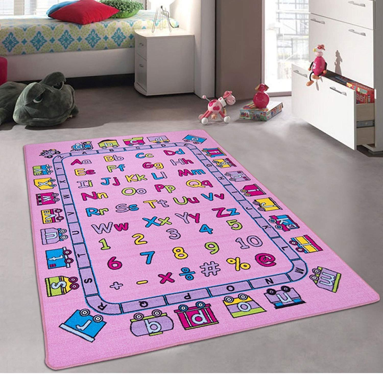 Girls Bedroom area Rugs Best Of Kids Baby Room Daycare Classroom Playroom Girl S area Rug Alphabet Letters Numbers Educational Fun Pink Purple Bright Colorful Vibrant