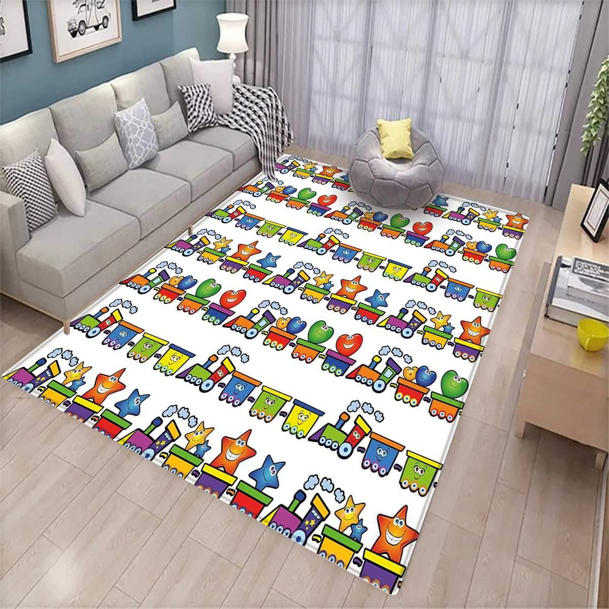 Girls Bedroom area Rugs Lovely Amazon Nursery Girls Bedroom Rug Trains Loaded with