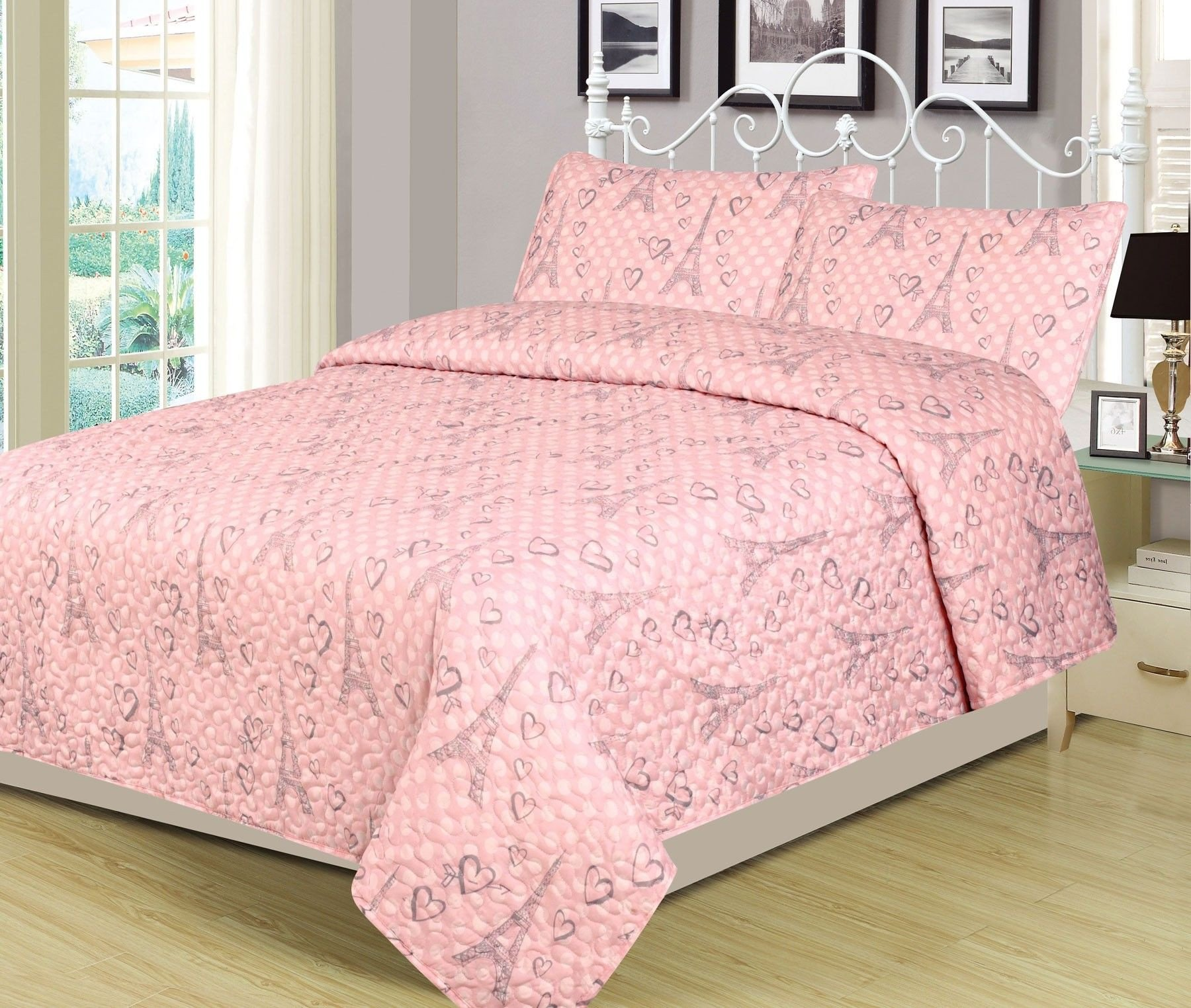 Girls Full Size Bedroom Set Elegant Beatrice Home Fashions Paris Polka Twin 2 Piece Bed Set