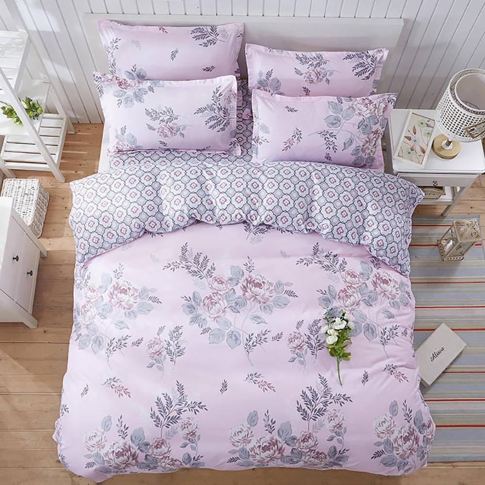 Girls Full Size Bedroom Set Luxury Floral Bedding Set for Girls Elegant Sweet Classic Duvet Cover Peony King Queen Full Twin Single fortable Bed Cover with Pillowcase French Bedding
