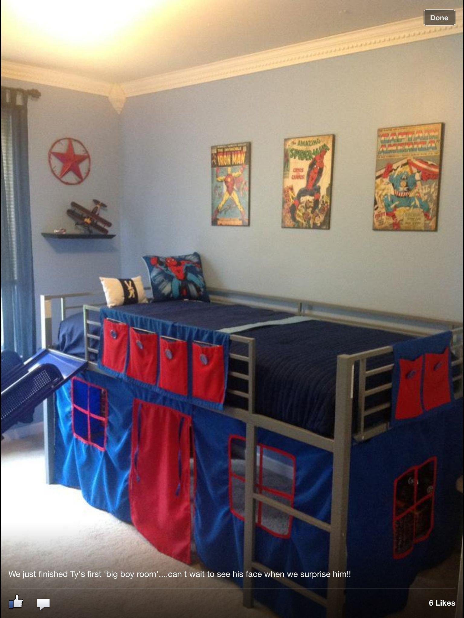 Girls toddler Bedroom Set Luxury Boys Super Hero Loft Bedroom Junior Fantasy Loft Bed with