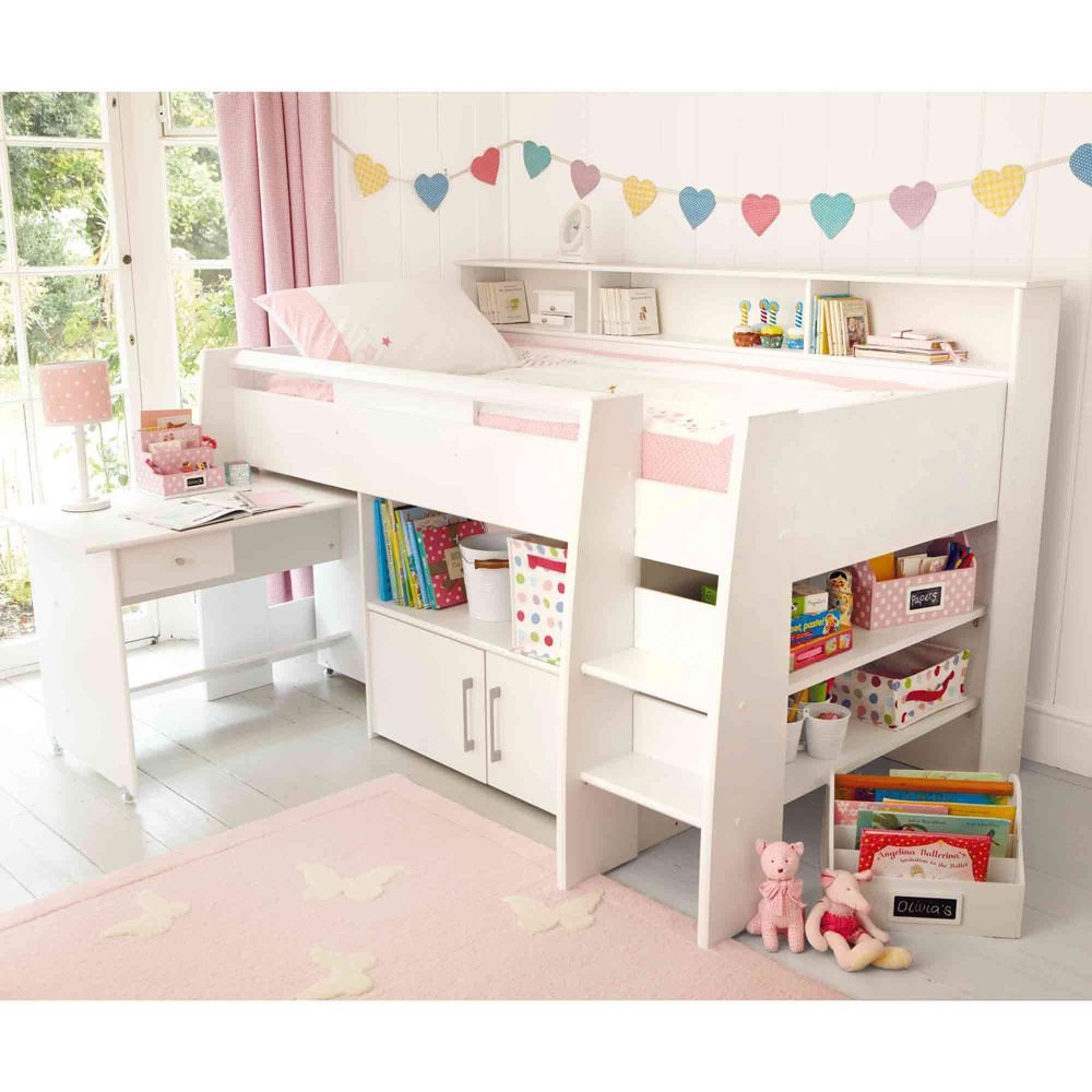 Girls White Bedroom Set Inspirational Reece Cabin Bed