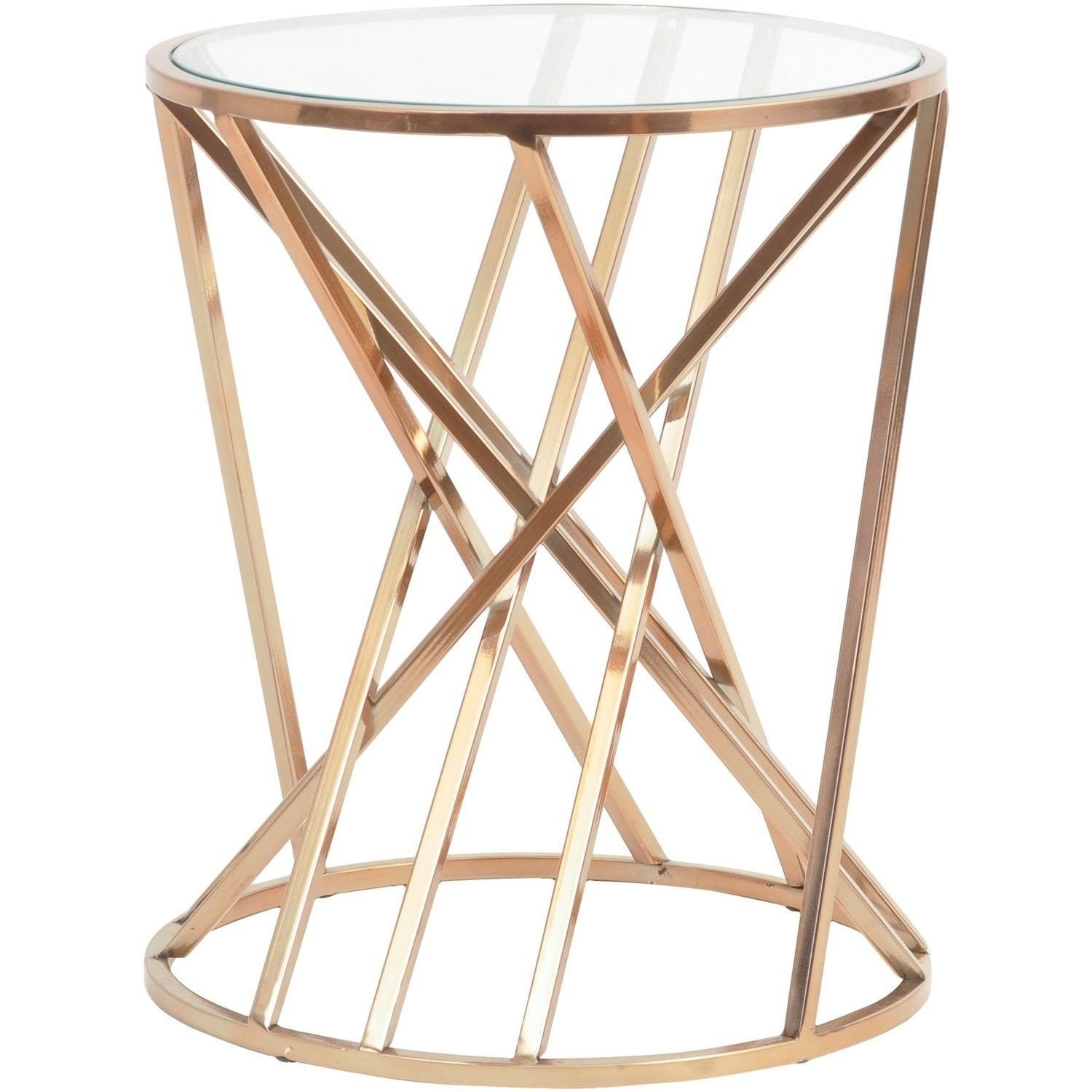 Glass Side Tables for Bedroom Fresh Gold Geometric Side Table In 2020