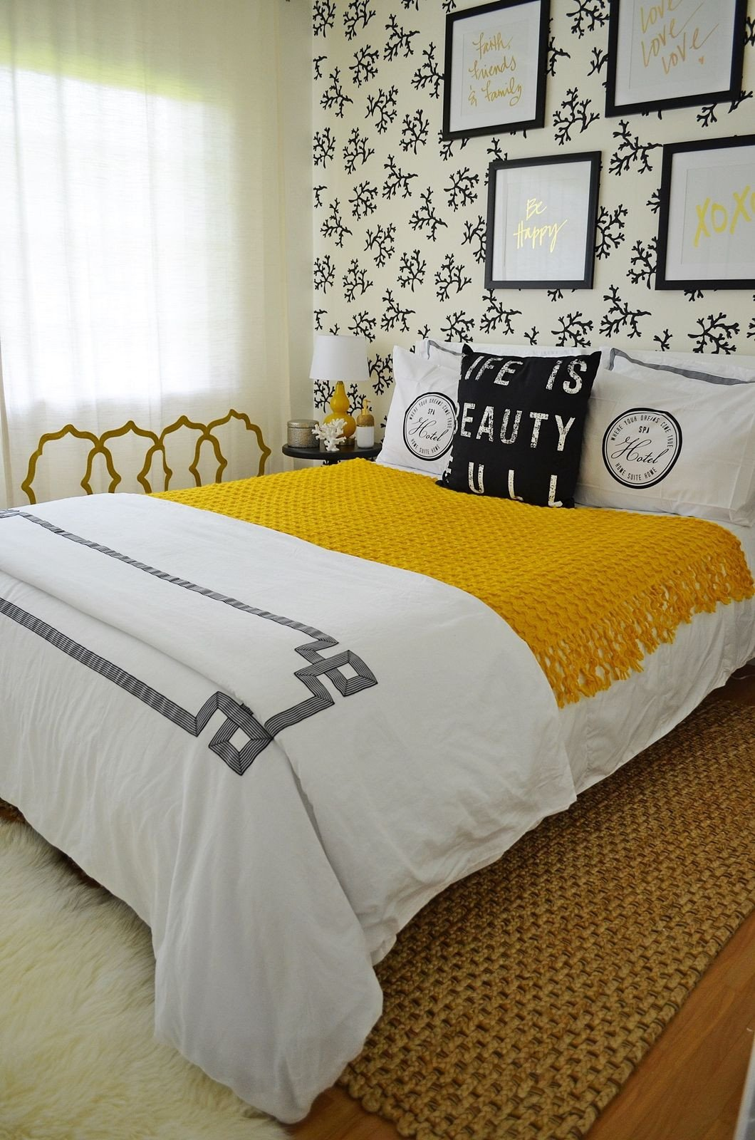 Gold Black and White Bedroom Beautiful A Boutique Hotel Inspired Guest Bedroom This Room Used the