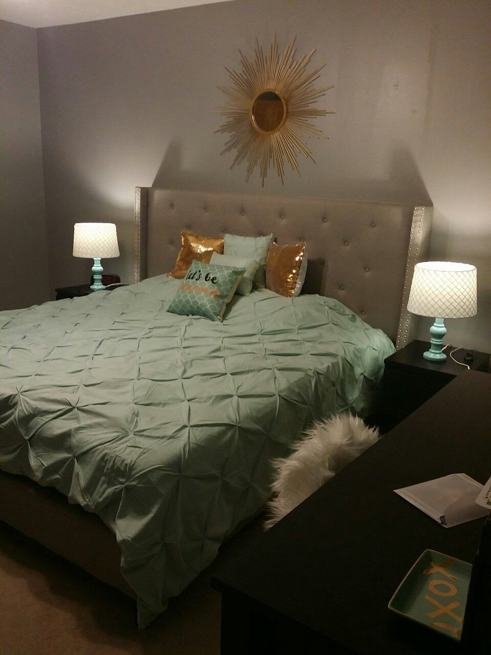 Gold Black and White Bedroom Best Of Mint Gold and Grey Bedroom Blended Neutral Black and