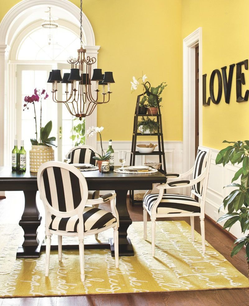 Golden and White Bedroom Beautiful Black & White with Yellow Accent Color Love the Bold Black