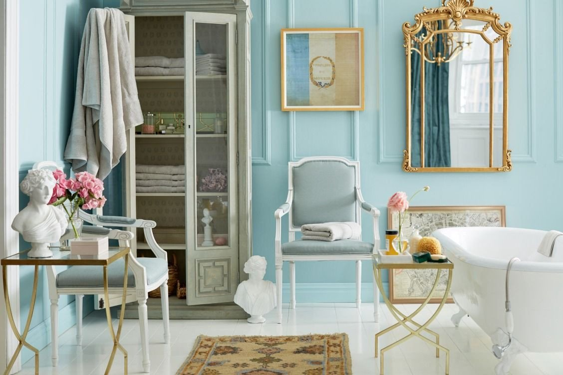 Golden and White Bedroom Lovely Obsessed with This Gorgeous Light Blue Gold and White