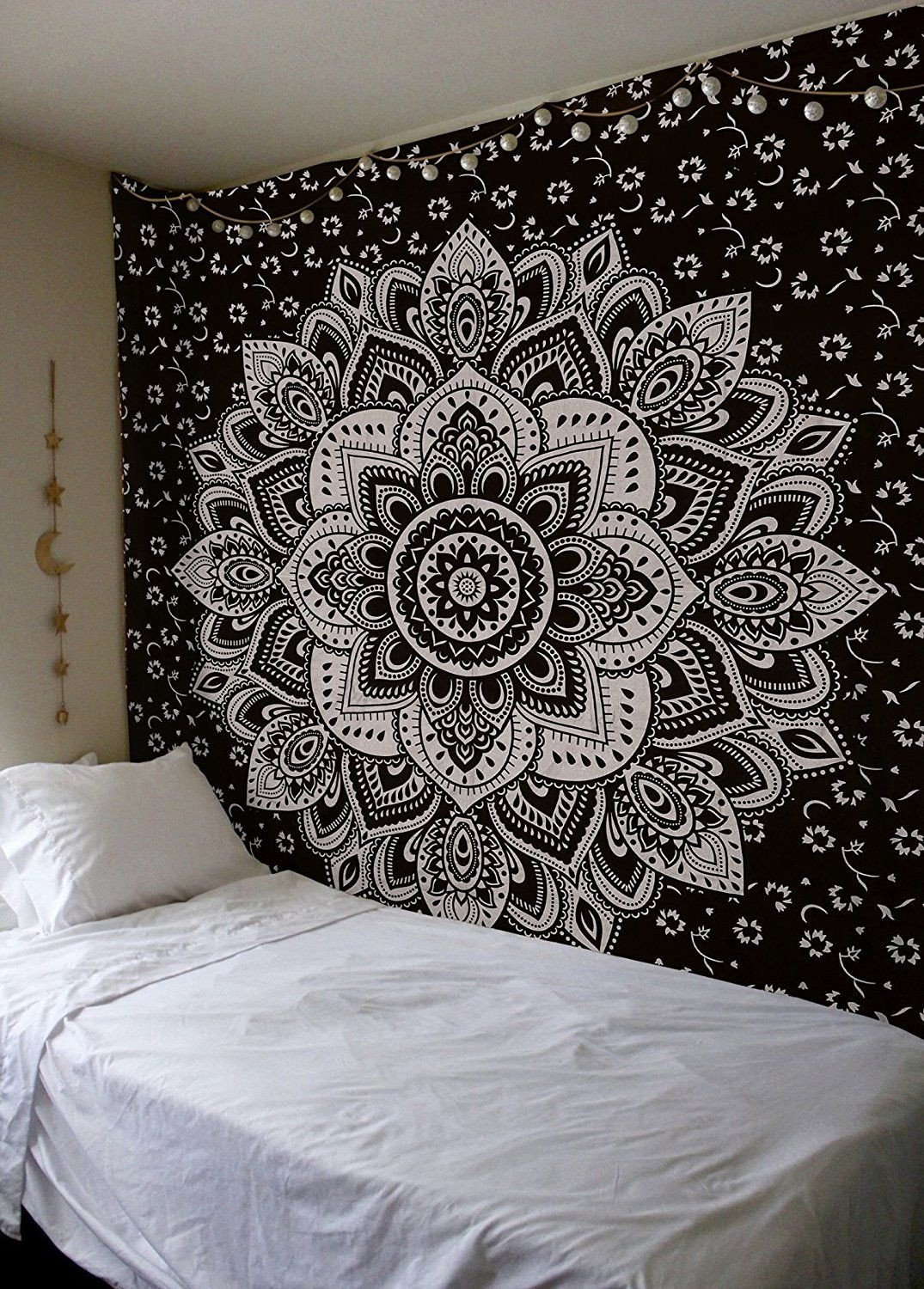 Golden and White Bedroom New Amazon Mandala Gold Tapestries Queen Black Silver