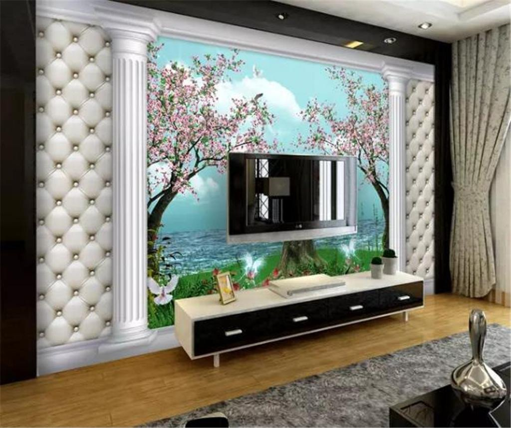 Good Size Tv for Bedroom New Custom Any Size 3d Wallpaper Beautiful Dreamy Landscape Roman Column Tv Background Wall Decoration Mural Wallpaper Widescreen Wallpaper Download