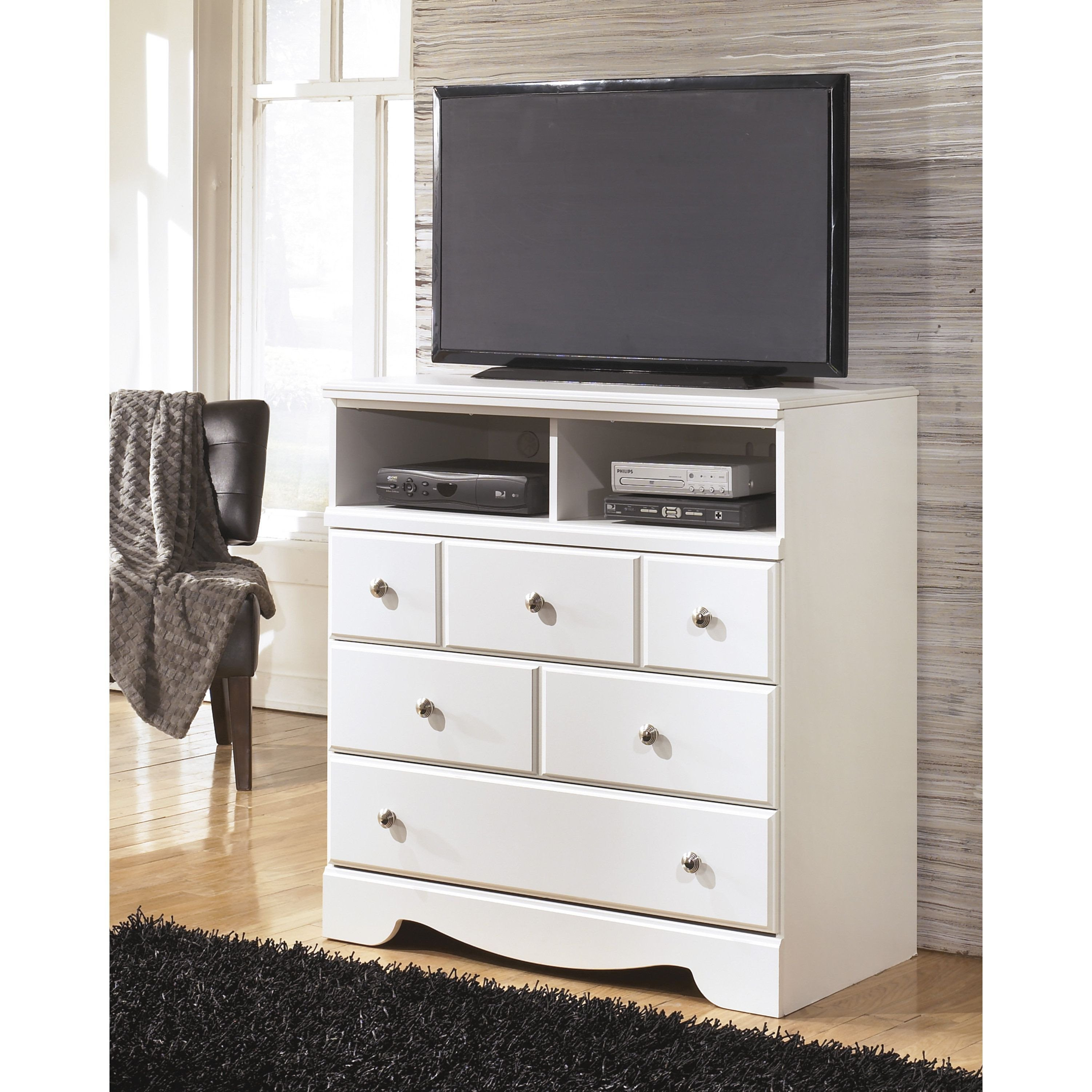 Good Size Tv for Bedroom Unique Signature Designs by ashley Weeki White Media Chest