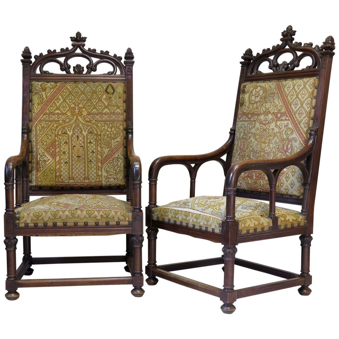 Gothic Bedroom Furniture for Sale Awesome Pair Of Gothic Style Armchairs France 19th Century