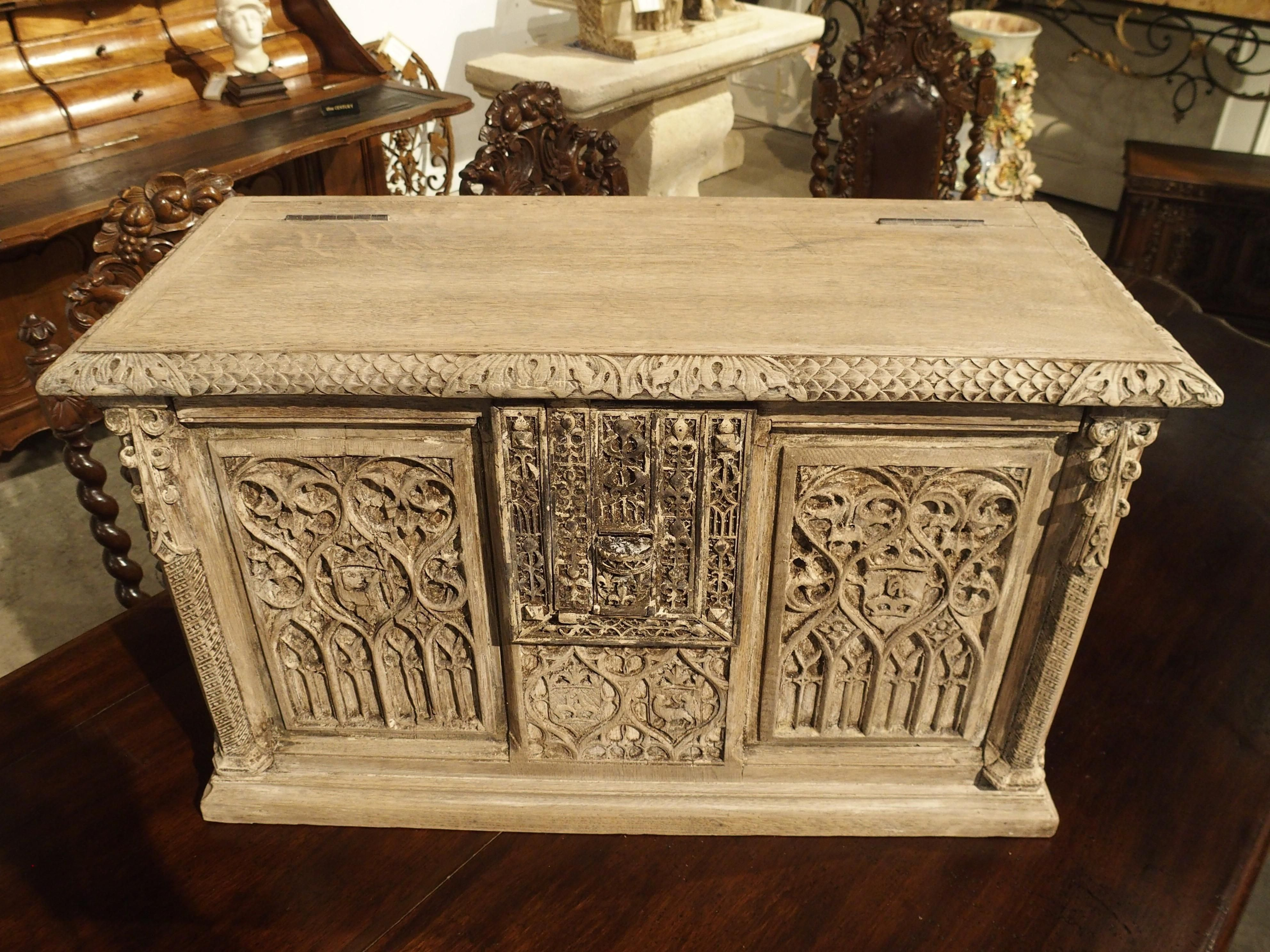 Gothic Bedroom Furniture for Sale Elegant Small Stripped Oak Gothic Trunk From France Circa 1890 for