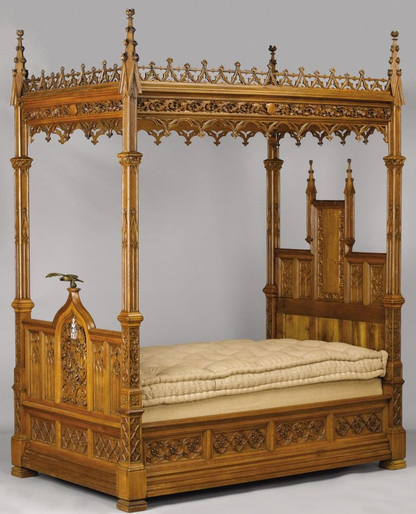 Gothic Bedroom Furniture for Sale Lovely An English Gothic Revival Oak Tester Bed Late 19th Century