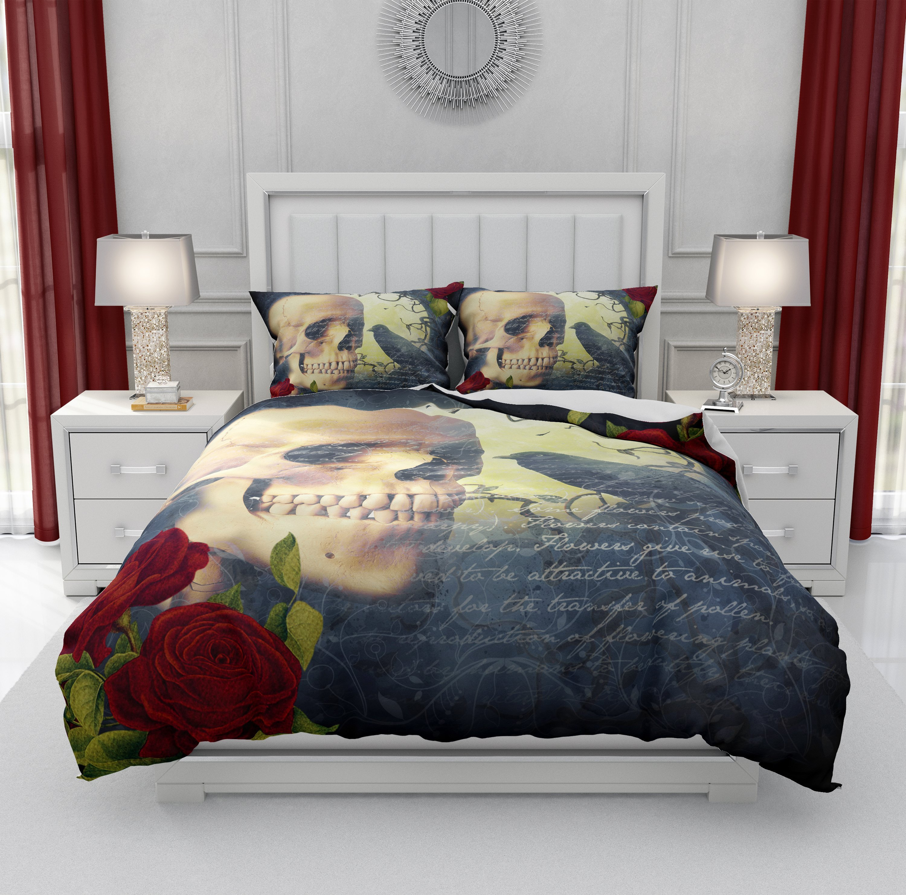 Gothic Bedroom Furniture for Sale Lovely Crow Speaks Gothic Skull Bedding