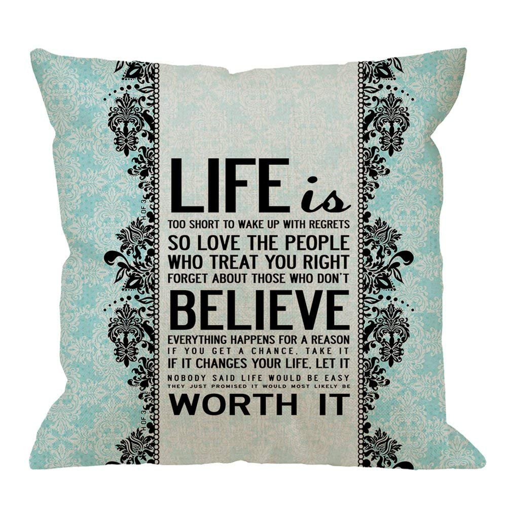 Gray and Aqua Bedroom Beautiful Amazon Fu Chun Quotes Designpillow Case Damask Life